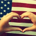 USA Flag and heart